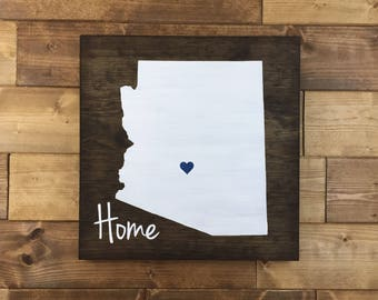 Pick Colors, Arizona Wood Sign, Arizona State Sign, Arizona sign, Arizona Home Sign, Arizona decor, Arizona guest book, wood signs