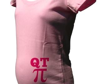 Maternity Shirt - QT Pi - Math Cutie Pie Funny Shirt - Maternity Tshirt - Maternity - New Baby - Baby Shower Gender Reveal - Gift Friendly