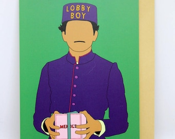 "The Grand Budapest Hotel Card ""LOBBY BOY"""