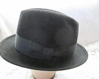 Vintage Male Black Felt HAT by KIMBALL