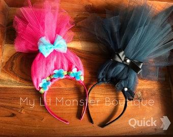 Trolls Poppy headband/ Branch headband/ trolls party decoration/ party favor/ trolls birthday/ halloween/ trolls costume