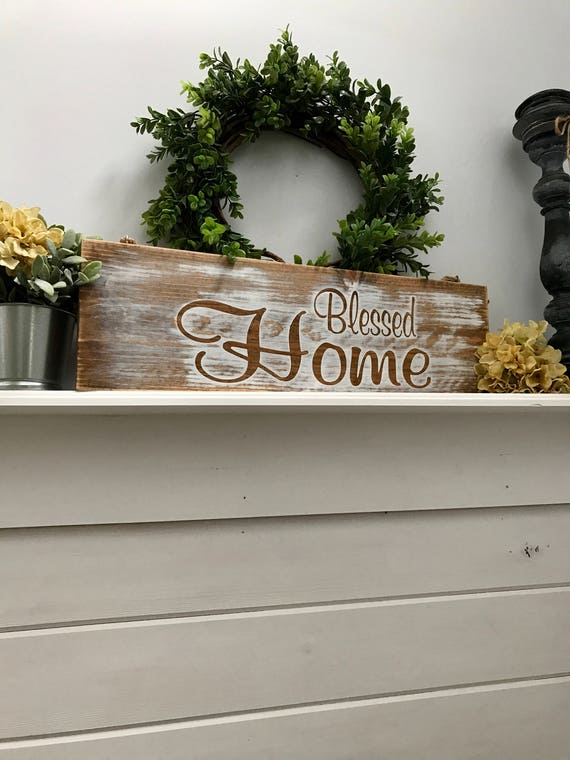 Blessed Sign, Farmhouse Style Sign, Living Room Sign, Blessed Farmhouse sign, Wooden Sign, Blessed Sign Wood, Wood Sign Rustic, Rustic Signs