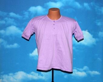 Race Wear New Republican Purple Henley Tshirt Vintage 1970s