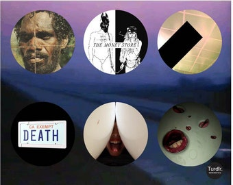 Death Grips Album Covers 2-1/4 in Pinback Buttons