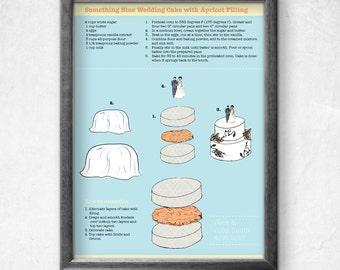 Printable Customizable Wedding Cake Illustration
