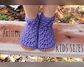 Slipper pattern, pattern for slippers, kids slipper pattern, crochet pattern