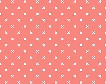 Coral Basics X Fabric by Riley Blake