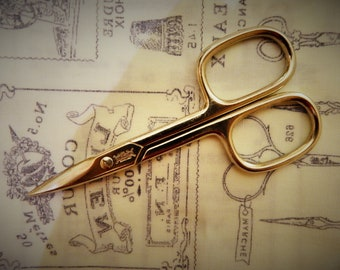 Vintage Square Handled Made In Sheffield Scissors 4 Inch