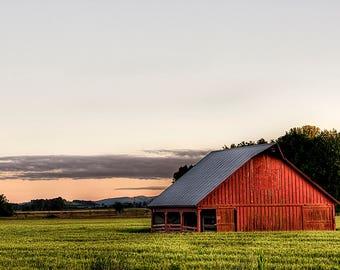 Rural Red Barn Photo Wall Art