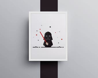 Darth Vader (8 X 10 Star Wars illustration, poster)