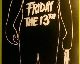 Friday the 13th STICKER - vinyl - Jason Voorhees / Horror / slasher / gore / 80s