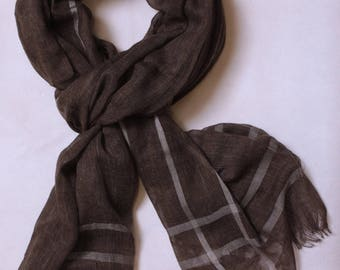 Brown men scarf
