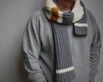 Knit scarf - Unisex scarf - handknit scarf men