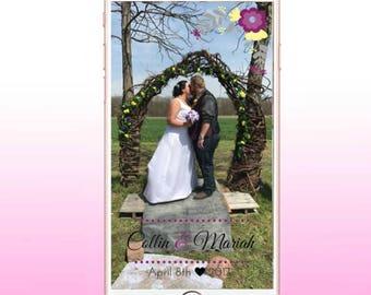 Snapchat Geofilter Customizable Wedding!