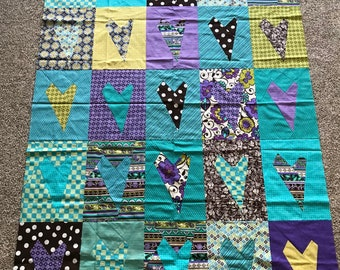 Quilt Top : Wonky Hearts  Buggy Barn