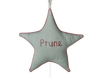 Lullaby Star Lullaby Baby Girl liberty Personalized Washed Music Cushion