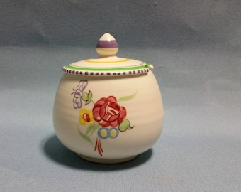 Poole Pottery Preserve, Jam or Honey Pot with Lid, Circa 1952-55