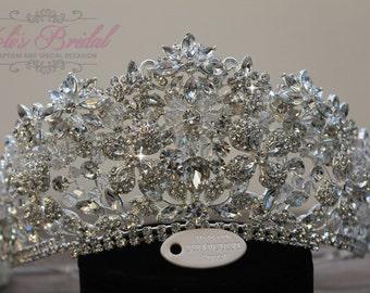 Swarovski Tiara, QuinceaneraTiara, CrystalTiara ,Wedding Tiara ,Crown , Wedding Headpiece, Bridal Tiara, Crystal Headpiece, Bridal Headpiece