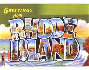 Greetings from Rhode Island Fridge Magnet