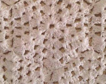 White Poncho Crochet
