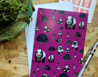 Pandamonium Pink // Greetings Card - Blank