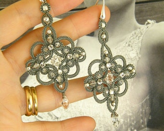 Sherazade , earrings tatting pattern