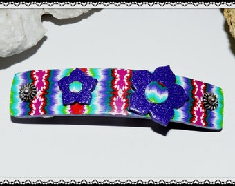 Hair clip made of polymer clay (fimo)