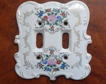 Fancy Ceramic Double Lightswitch Cover!