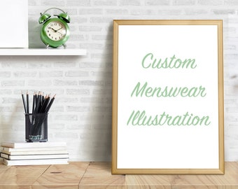 Custom Fashion Illustration - Menswear