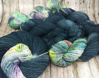 Creatures of the Deep - Hand Dyed Yarn - Fingering Weight - SW Merino / Nylon - 113 grams - 8 ply