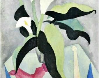 Marsden Hartley Still Life No-19-1917 Vintage Lithograph