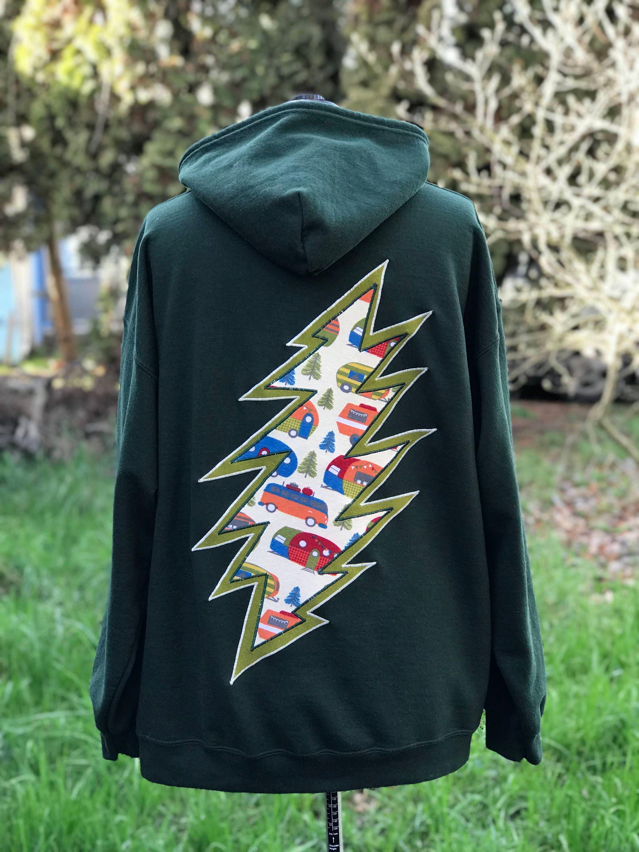 Grateful Dead Terrapin Unisex Hoodie Zip Sweatshirt Men's Medium, Women's Large