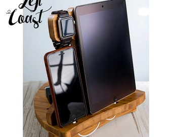 Mothers Day Gift Apple Watch Charging Station Dock iPhone iPad Stand  Father Her Him Men Women Wedding Bride Groom  The Sailing Dock