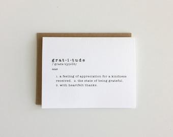 Gratitude (definition card)
