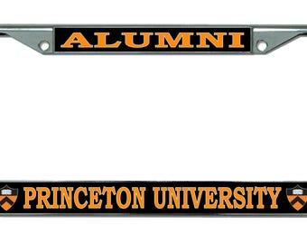 Princeton University Alumni Shield Logo Chrome License Plate Frame