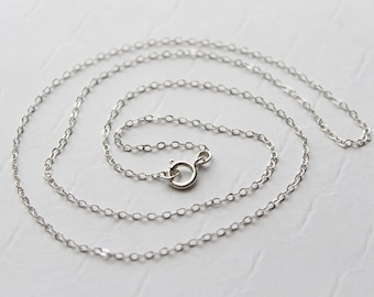 Sterling Silver chain UPGRADE, Silver Plated chain upgraded to Sterling Silver Chain - UPGRADE ONLY