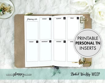 Mar-Apr 2018 | Printable Personal Dated Weekly WO2P Travelers Notebook | Personal/No 4 TN