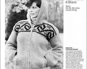 Cowichan Style Hooded Sweater #19 PDF Pattern