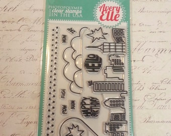 Avery Elle Clear Photopolymer Rubber Stamp Set - Super