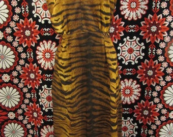 Tiger stripped Empire Waist Maxi