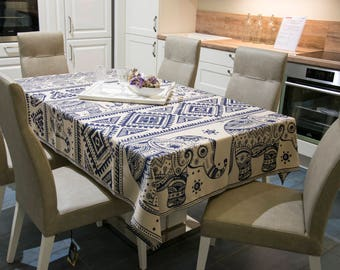 Table Cloth Modern Room Decor Cover Dining Kitchen And