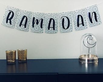 Abstract Arabesque Printable Ramadan Banner