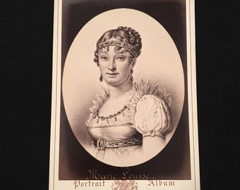 Cabinet Card of Marie Louise - Second Wife of Napoleon I, 19th Century Antique Photograph, Jacotin Portrait Album