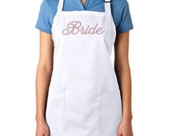 """Embroidered """"Bride"""" apron"""