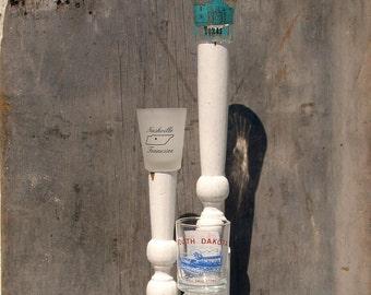 Kitschy Recycled Candlestick - Nashville San Antonio South Dakota