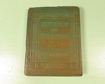 Memories of President Lincoln by Walt Whitman - Vintage Little Leather Library Pocket Book