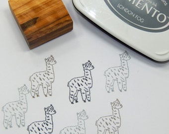 Alpaca Olive Wood Stamp