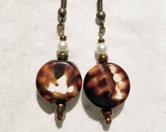 Cute Little Brown Earrings