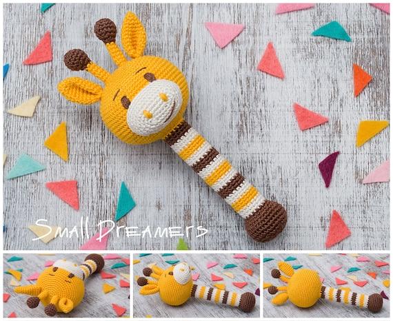 Giraffe Rassel häkeln Rassel Baby Rassel Spielzeug Baumwolle