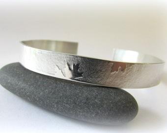 Cuff bracelet. Sterling Silver Bracelet. Silver cuff bracelet. Maine jewelry. Modern Silver Jewelry. Designer jewelry. Silver Bracelet